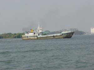 """Deep Sea Fishing Boat in Kochi Harbour"""