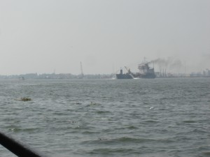"""Another Ship in the Distance-Kochi Harbour"""